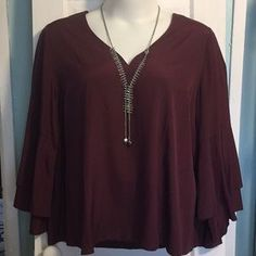 I just discovered this while shopping on Poshmark: Bell Sleeve Lane Bryant Plus T.... Check it out! Price: $16 Size: 3X, listed by lboutiquek