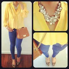 yellow & pearls