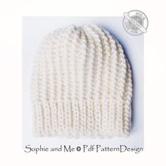 BULKY GARTER HAT with Ribbing **This listing is for a CROCHET PATTERN. You are not buying a finished product! INSTANT DOWNLOAD PDF**  Unisex. Adjustable to any size. Skill level: Easy. This hat is designed to match the Bulky Garter Sweater: https://www.etsy.com/listing/482387235/bulky-garter-sweater-crochet-pattern?ref=shop_home_feat_2  So warm, soft, and stretchy! People will not believe that this is crochet, not knit! The hat is completely made with slip stitches, the ribbing as well as…