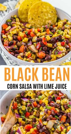 This Black Bean and Corn Salsa Recipe is the perfect chip dip for your Cinco de Mayo party appetizers chipdip dips salsa salsarecipe mexican cincodemayo Corn Salsa Dip, Black Bean Corn Salsa, Salsa Dips, Chip Dip Recipes, Bean Dip Recipes, Corn Salsa Recipes, Chip Dips, Mexican Bean Dip, Mexican Black Bean Dip Recipe