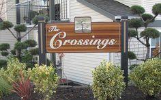 The Crossings Sandblasted Sign