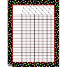 DOTS ON BLACK INCENTIVE CHART