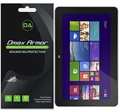 [3-Pack] Dmax Armor- Dell Venue 10 / Venue 10 Pro Screen Protector High Definition Clear Shield - Lifetime Replacements Warranty- Retail Packaging
