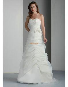 A-line Col en cœur Zip Robes de mariée 2014