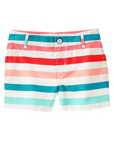 Striped Twill Shorts at Gymboree