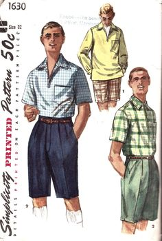 vintage mens sewing patterns - Google Search