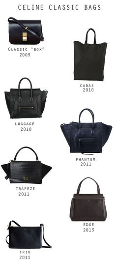 Celine classic bags - Luggage - bags and wallets online shopping, womens bags sale, small black bag *ad Luxury Bags, Luxury Handbags, My Bags, Purses And Bags, Zapatillas Louis Vuitton, Sacs Louis Vuiton, Sacs Design, Celine Handbags, Women's Handbags