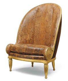 Nautilus chair, circa 1913 Paul Iribe (French 1883-1935)    Designer, Illustrator (and lover to Coco Chanel)