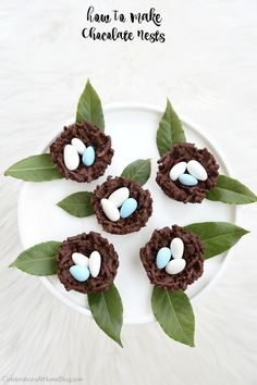 chocolate nests for easter...