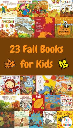 23 Fall Books for Kids - Fun with Mama Fall is just around the corner, which means it's almost time to jump in the leaves, eat some apples and snuggle in your comfiest clothes. This collection of Fall books for kids celebrates all of Autumn Activities For Kids, Fall Preschool, Preschool Books, Book Activities, Preschool Activities, Toddler Books, Childrens Books, Kid Books, Fallen Book