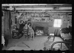Interior of mountain farmhouse, Appalachian Mountains near Marshall, North Carolina