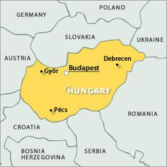Map of Hungary - Magyarország térkép Poland Germany, Country Maps, Budapest Hungary, Show Photos, Bosnia And Herzegovina, Continents, Romania, Austria, Travel