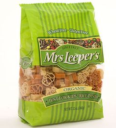 Unlike most brands for children who can't tolerate wheat, Mrs. Leeper's Just for Kids Pasta is made with healthier brown rice. #Gluten Free