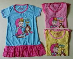 Marsha and The Bear Dress Tersedia warna: biru,pink,kuning Rp45.000/pcs USD $4.5 size anak: 4,5,6,7,8 thn size kids: 4,5,6,7,8 years How To Order: SMS : 08128123061 PIN BBM : 7DAE07CA / 235E3A9E E-mail : bluetree72@yahoo.com For outside Indonesia you can contact us via: E-mail : bluetree72@yahoo.com Twitter : @BlueTree_Store Note : -All of the products price does not include Shipping -No Refund,Return,Cancel. (except if there's damage on the products)