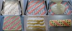ピンクストライプ&水玉模様のロールケーキ・レシピ|ちょっとの工夫でかわいいケーキ