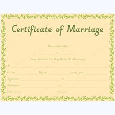 Certificate Templates Microsoft Word Amazing This Marriage Certificate Template Is Easily Printable And Editable .