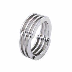 Mens flexible wedding ring by Leon Mege httpartofplatinumcom