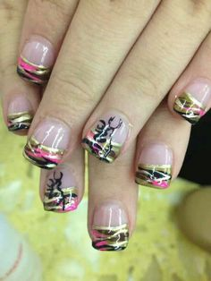 Pink camo nail designs npnurseries home design fancy cute acrylic ideas Pink Camo Nails, Camo Nail Art, Camouflage Nails, Love Nails, How To Do Nails, Country Girl Nails, Hunting Nails, Camo Nail Designs, Girls Nails