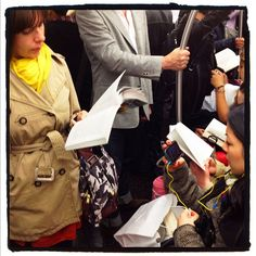 Readers on the F train, going to Brooklyn. Brooklyn is a very literary borough. #subway #newyork #nyc #brooklyn #reading #books by Ed Lefkowicz, via Flickr