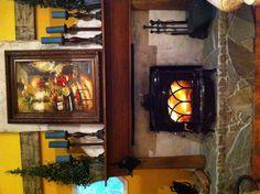 I love my cozy fireplace !!!