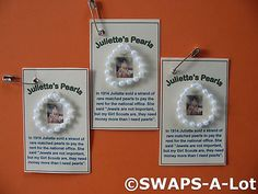 Mini Juliette's Pearls Juliette Low SWAPS Girl Scout SWAPS Kit makes 25 | eBay