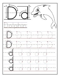 Free Printable letter D tracing worksheets for preschool. Free learning to write worksheets for preschoolers. Letter D for Dolphin worksheets Abc Worksheets, Alphabet Tracing Worksheets, Printable Preschool Worksheets, Kindergarten Worksheets, Abc Tracing, Printable Coloring, Number Tracing, Tracing Letters, Pre Kindergarten