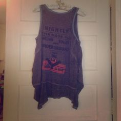 We The Free tank top. Gray with blue trim and graphic on the front. Super soft fabric. Only worn once. Free People Tops Tank Tops