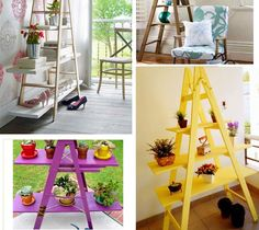 Easy ways to reuse an old ladder at home