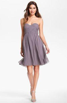 I LOVE this one.... Donna Morgan 'Morgan' Strapless Silk Chiffon Dress available at #Nordstrom