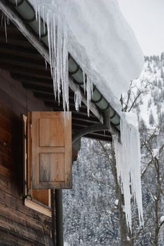 Icicles in Villar sur Ollon, Switzerland