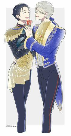 Viktor kind of looks like France from hetalia if he had Platinum hair