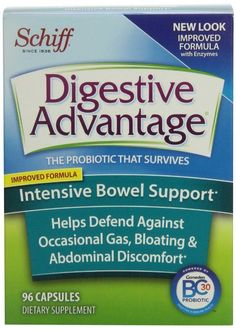 Digestive Advantage Intensive Bowel Support, 96 Counts Capsules (FREE SHIPPING) #Schiff
