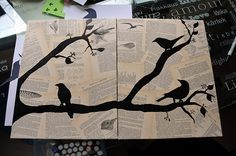 Awesome silhouette art! Just experimenting with it!