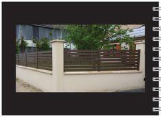 clôture en aluminium à lames horizontales ajourées