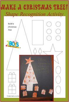 Make a Christmas Tree Christmas Tree Shapes {Free Printable}