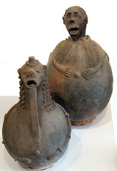 Africa | Clay pots from the Niger River Delta and northern region |  Image credit Ann Porteus, Sidewalk Tribal Gallery, via Flickr