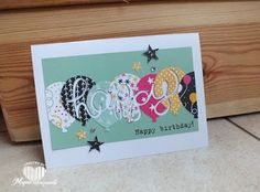 Magical Scrapworld: Happy birthday, balloon celebration, cards, Hello You, itty bitty accents punch, party with cake, spring catalogue 2016, Stampin' Up!,