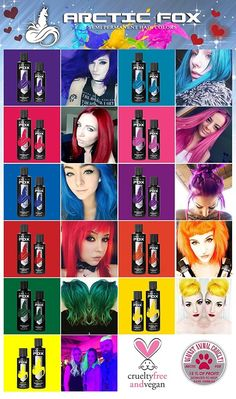 Manic Panic Colour Chart Hair Hair Color Purple Manic Panic