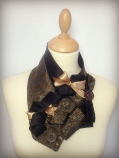 Ladies neck tie Vintage scarf  fabric by themakingboutique on Etsy, £24.00