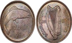 On this page, we will tell you all about the Irish Florin coin minted between the years Identifying Coins, 10 Pence, Irish Free State, Coin Values, Coin Grading, Coin Collecting, Ireland, Told You So, Personalized Items