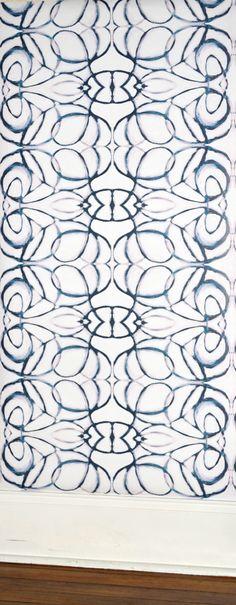Lindsay Cowles LLC — NEW! 1515 blush navy wallpaper