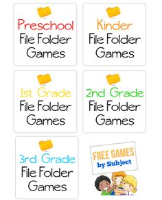 Free games and printables for kids by age
