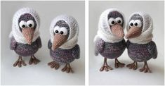This adorable crocheted curious crow will make anyone smile with glee. It's so charming and unique, anyone's bound to melt in its cuteness! Get the FREE . Crochet Animals, Crochet Toys, Free Crochet, Knit Crochet, Christmas Crochet Patterns, Knit Patterns, Cute Toys, Stuffed Animal Patterns, Learn To Crochet