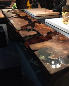 Rare Wood  KAURI BRICCOLE CEDAR  RIVA 1920 Salone Del Mobile 2016 #KVAPTИPA #interior #solutions #boutique #rarewood #wood #table #riva1920 #kauri #briccole #cedar #architecture #art #decor #design #interiordesign #creative #creativeideas #trend #kvartira #exhibition #salonedelmobile #isaloni #isaloni2016 #italy #milano by kvartira_boutique