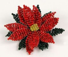 How-To: Beaded Poinsettia from June Gilbank of Planet June