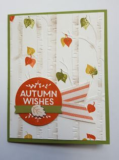Woodland embossing folder, among the branches stamp set