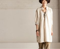 Rice Pocket TShirt  Causel Long Dress Women's Top by clothingshow, $46.00