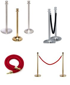 Easy Queue traditional posts stanchions are optimal for upscale locations as they feature a traditional post and velvet design. Our heavy duty metal stanchions include custom finish options to match the decor in any setting.  These easy queue stanchions and velvet ropes are perfect for managing crowds in movie theaters, live performance theaters, VIP rooms, museums, banks, restaurants, ticketing offices and more. Ropes, Movie Theater, Museums, Offices, Banks, Metal Working, Vip, Restaurants, Candle Holders