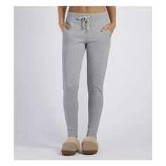 Ugg Molly Jogger ($98) ❤ liked on Polyvore featuring seal heather, cotton jersey and ugg