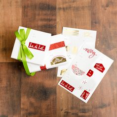 @heidiswapp Minc Christmas Gift Labels coming soon! Run these beautiful holiday products through the Minc Foil Applicator Machine with foil and get custom results in minutes!